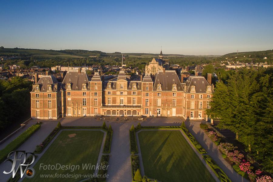 Château d'Eu – Le Treport – Luftbildvideo
