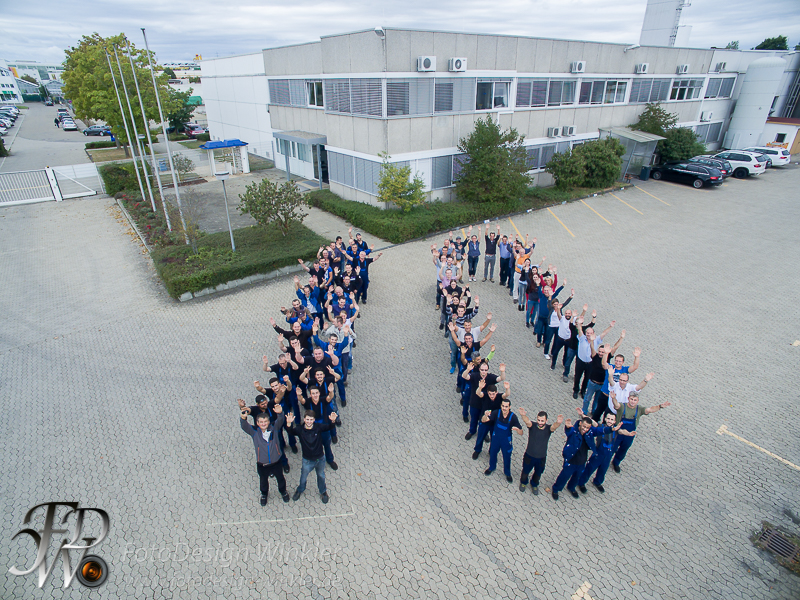 Luftbilder zum 10-jährigen Firmenjubiläum