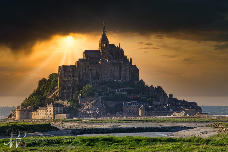 Mont Saint Michel – Frankreich – bearbeitet mit Luminar 4