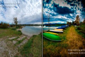 Vorher – Nachher – Mit Smartphone fotografiert und mit Lightroom mobile bearbeitet
